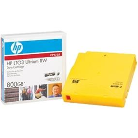 HP LTO Ultrium 3 Data Cartridge - LTO-3 - 400 GB (Native) / 800 GB (Compressed) - 2231 ft (680000 mm) Tape Length - 20 Pack (C7973AJ)