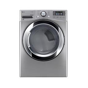 LG 7.4 cu.ft. 27 Inch Ultra Large Capacity Electric Steam Dryer with True Steam Technology - Graphite Steel (DLEX3370V)