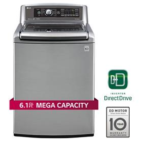 LG 6.1 cu.ft. Mega Capacity High Efficiency Top Load Washer with TurboWash and Steam Technology - Graphite Steel (WT5680HVA)