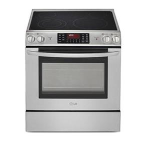 LG 5.4 cu.ft. Large Capacity Electric Slide-In Range Stove with Fan Convection System - Stainless Steel (LSE3090ST)
