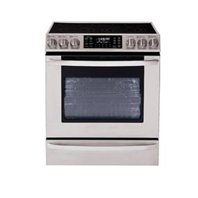 LG 5.4 cu.ft. Large Capacity Electric Slide-In Range Stove with Dual True Convection System - Stainless Steel (LSE3092ST)