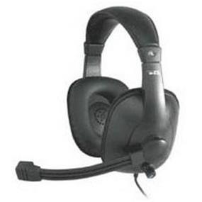 Cyber Acoustics AC-960 Pro Grade w/Mic Headset - Over-the-head - Black