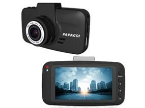 "PAPAGO! GoSafe 520 2K Ultra WHD Dashcam with 3"" 21:9 LCD Display and Super HDR Dynamic Exposure - Black (GS520-US)"
