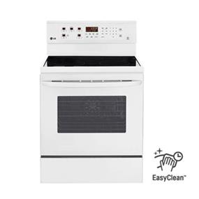 LG 6.3 cu.ft. Electric Range Stove with True Convection and EasyClean - White (LRE6383SW)