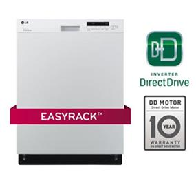 LG 50DB Semi-Integrated Dishwasher with Flexible EasyRack System - White (LDS5040WW)