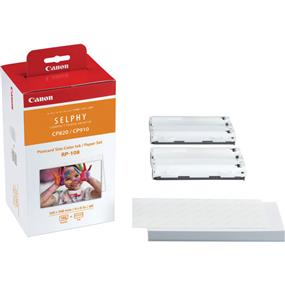 Canon RP-108 - High-Capacity Color Ink/Paper Set for SELPHY CP910 Printer