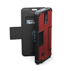 UAG Samsung Galaxy Note 4 Red/Black (Rogue) Folio case (UAG-GLXN4F-RED-VP)