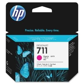 HP 711 3-Pack 29-ml Magenta Ink Cartridges - Inkjet - 3 / Pack (CZ135A)