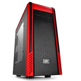 Deepcool Pangu SW-RD Black with Red Highlights Window Mid Tower Case