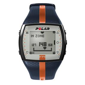 Polar FT4M Heart Rate Monitor Watch - Blue / Orange (90053988)