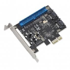 SYBA 3-port (1x IDE; 2x SATA III) PCIe, x1, Revision 2.0, (Full & Low Profile); Marvell Chipset (SI-PEX40059)