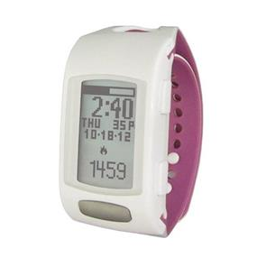 LifeTrak Zone C410 Automatic Bluetooth Activity Tracker with Built-in ECG Heart Rate Monitor - White / Orchid (LTK7C4107)