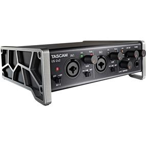 Tascam US-2X2 - 2-in/2-out Audio/MIDI Interface with HDDA Mic Preamps and iOS Compatibility