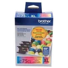 Brother LC-75 Tri-Color Ink Cartridge (LC753PKS)