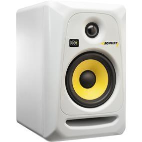 "KRK Rokit 6 G3 - 73W 6"" Two-Way Active Studio Monitor (White/SINGLE)"