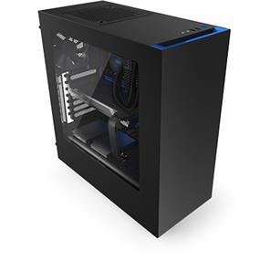 NZXT Source 340 Mid Tower Case Black & Blue (S340MB-GB)