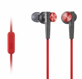 Sony MDR-XB50AP - Extra Bass Earbud Headset (Red)