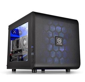 Thermaltake Core V21 Black Micro ATX Stackable Window Cube Case (CA-1D5-00S1WN-00)