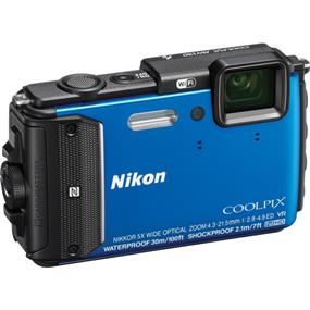 Nikon COOLPIX AW130 - Waterproof Digital Camera (Blue)