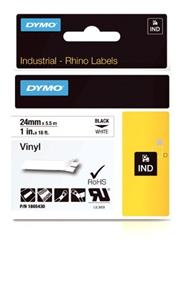 Dymo Rhino 1IN Vinyl Label Cassette 24mm, White (1805430)