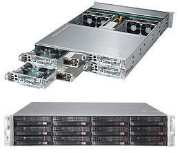 Supermicro SuperServer 6028TP-HTTR 2U E5-2600v3 C612 3x3.5inch SATA DDR4 PCI-Express 3.0 x 16 2000W Rackmount Retail
