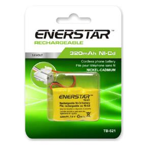 EnerStar Cordless Phone Battery Ni-Cd Battery 320 mAh for AT&T GE, Casio, VTech, and Pacific Bell