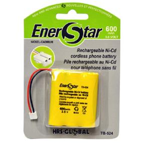 EnerStar Cordless Phone Battery Ni-Cd Battery 600 mAh for AT&T GE, Casio, VTech, and Pacific Bell