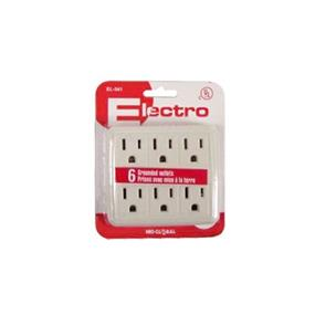Electro EL-541 Wall Tap 6 Outlets