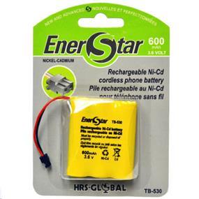EnerStar Cordless Phone Battery Ni-Cd Battery 600 mAh for Sony. Panasonic, Uniden, Toshiba, Sharp, Cobra