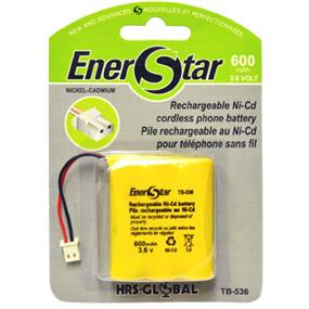EnerStar Cordless Phone Battery Ni-Cd Battery 600 mAh for Sony. Panasonic, Uniden, Toshiba, Sylvania and Bell South