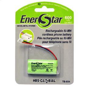 EnerStar Cordless Phone Battery Ni-MH Battery 600 mAh, 2.4V for VTech, AT&T and GE.