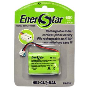 EnerStar Cordless Phone Battery Ni-MH Battery 600 mAh, 3.6V for VTech, AT&T and GE.
