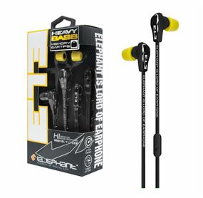 Elephant Heavy Bass - Mobile Earphones (Black)