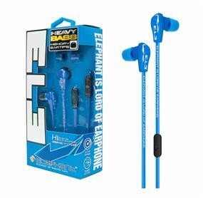 Elephant Heavy Bass - Mobile Earphones (Blue)