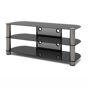 Sonax NY-9504 New York 50-Inch Metal and Glass TV Stand