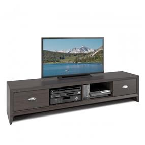 CorLiving TLK-872-B Lakewood TV Bench, Extra Wide, Modern Wenge Finish