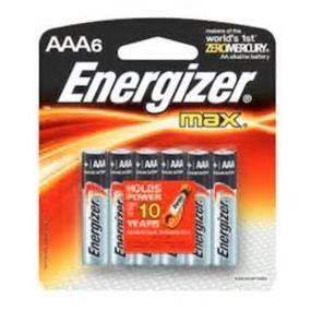 Energizer Max 6 x AAA Alkaline Battery E92BPF-6