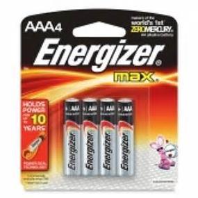 Energizer Max 4 x AAA Alkaline Battery E92BPT4