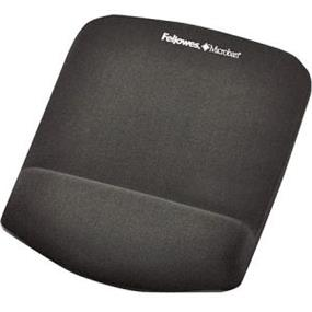 Fellowes Plush Touch Graphite Mouse Pad/ Wrist Rest w/ Foam Fusion Technology