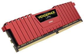 Corsair Vengeance LPX 4GB (1x4GB) DDR4 2400MHz CL14 DIMMs - Red (CMK4GX4M1A2400C14R)