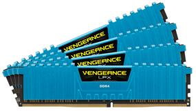 Corsair Vengeance LPX 16GB (4x4GB) DDR4 2666MHz CL16 Quad-Channel DIMMs - Blue (CMK16GX4M4A2666C16B)