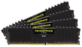 Corsair Vengeance LPX 16GB (4x4GB) DDR4 3000MHz CL15 Quad-Channel DIMMs - Black (CMK16GX4M4B3000C15)