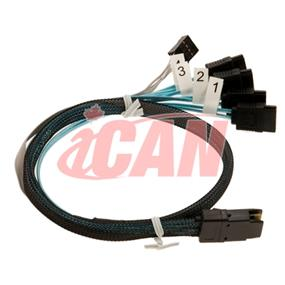iCAN MiniSAS 8087 to 4 x 6G SATA cable - 20 Inches (MS-8087-4S-20))