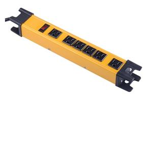 iCAN 6 Outlet 6FT Metal Power Bar 1200J Surge Protection 1875W  2.14AWG