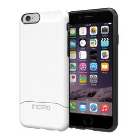 Incipio EDGE SHINE Hard Shell Slider Case With Brushed Aluminum Finish for iPhone 6  - White (IPH-1187-WHT)