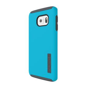 Incipio DualPro Case for Samsung Galaxy S6 edge Cell Phones - Neon Blue/Charcoal (SA-635-BCH)