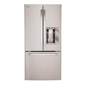 LG 33 inch , 24.2 cu.ft. French 3 Door Refrigerator with Ice & Water Dispenser - Stainless Steel (LFXS24623S)