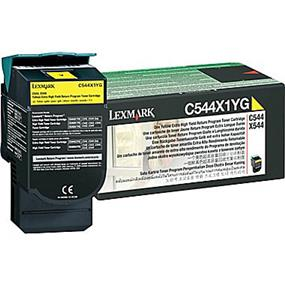 Lexmark C544X1YG High Yield Cyan Toner Cartridge