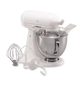 KitchenAid Artisan Series 5-Quart Tilt-Head Stand Mixer - White-on-White (KSM150PSWW)