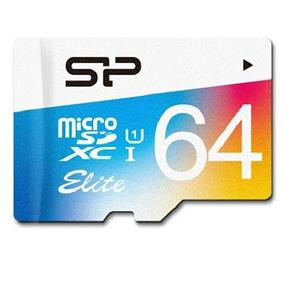 Silicon Power Elite 64GB Class 10 UHS-I microSDHC Flash Card w/SD adapter Upto 85MB/s Read, 15MB/s Write (SP064GBSTXBU1V20SP)